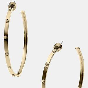 Michael Kors Astor Rivet Hoop Earrings